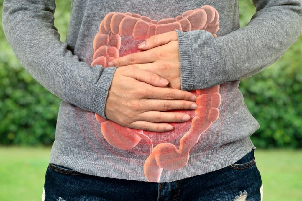 Keto flu symptom - large intestine problem